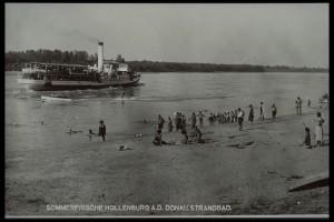Ein altes Foto vom Hollenburger Strandbad